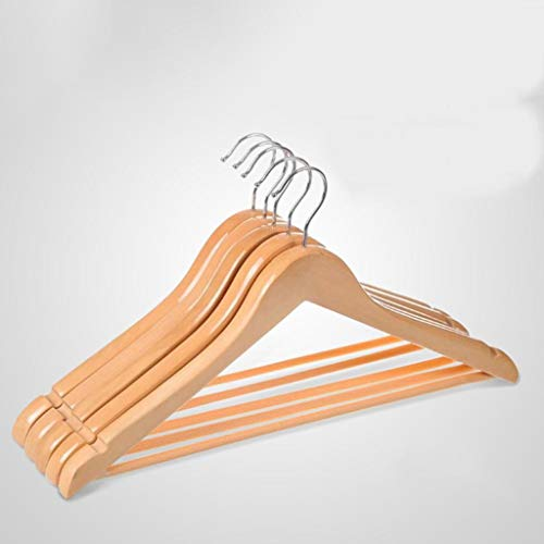 LE Bamboo Wooden Clothes Rack,Solid Wood Clothes Hanger for Clothes Wooden Foot Hanger Clothes for Clothes A