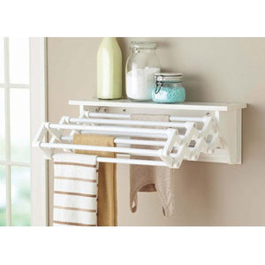 Better Homes & Gardens Wall-Mounted Drying Rack, White Black