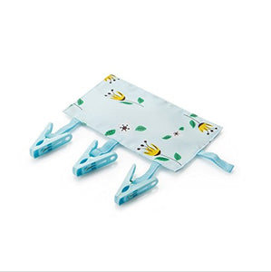 Idealgo pack of 4 Multi-function Foldable Portable Travel Hanging Rack Laundry Hanger With 3 Clips for Drying Clothing Towels Diapers Underwear Socks