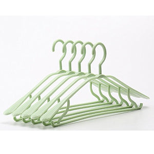 Lilongjiao 20 Packs, Drying Racks - Adult Dress Pants T-Shirt Clothing Wide Shoulder Seamless Drying Rack, 16.9 Inches (Color : Green)