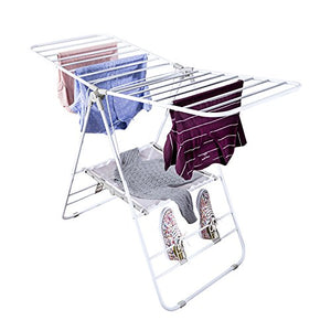 Honey-Can-Do Heavy Duty Gullwing Drying Rack, White Metal