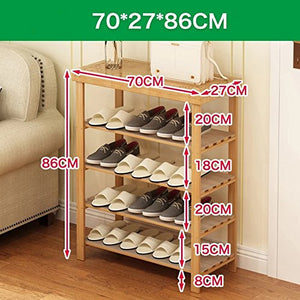 DW&HX Closet Shoes,Shoe Racks for Closets Over The Door Multifunction Solid Wood Shoe Rack Multilayer Changing Shoes Stool shoebox-D