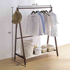 DL-Furniture - Laundry Drying Rack/Stand Garment Rack Cloth Hanger For Home and Business | Cherry