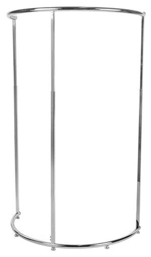 Displays2go APRK425CTF Half Circle Adjustable Clothing Rack, 48 to 72-Inch, Chrome Steel