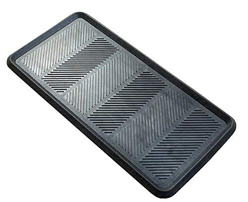 Iron Gate - 2 Pack - Big Foot - Heavy Duty Boot Tray - 16x32 Inch- Indoor or Outdoor Use - 100% Rubber Construction - Multi Purpose - All Weather Indoor or Outdoor Usage