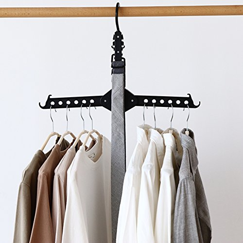 SWEET&HONEY Magic hanger Cloth hanger Space save Multilayer clothes Support Wardrobe Space Magic folding Telescopic Multi-function Suit hanger-A 32x46cm(13x18inch)