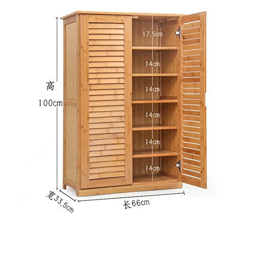 MCUWEHGFET Wooden Shoe Cabinet Bamboo Shoe Rack Solid Wood,Simple,shoebox Storage Room Shoe Rack [Multilayer],Multifunction,Porch Door Cabinet-A