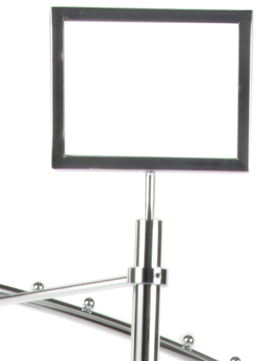 Displays2go Spiral Clothes Rack, Ball Stops, Fixed 68-Inch Height, Steel with Chrome Finish