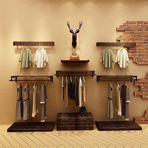 PLLP Wooden Household Hangers, Wall Hangers?Wood Clothing Store Shelves/Display Stand/Wall Shelves Rack/Wall Hanging on The Wall Hangers 8012Cm,10012Cm,12012Cm,14012Cm?Wall Door Back Coat Rack