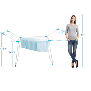 "Drynatural Clothes Drying Rack| Foldable Compact Metal Laundry Drying Rack| Featured Extra Large Size, Rustproof|67.32"" x 21.05 x 44.5"