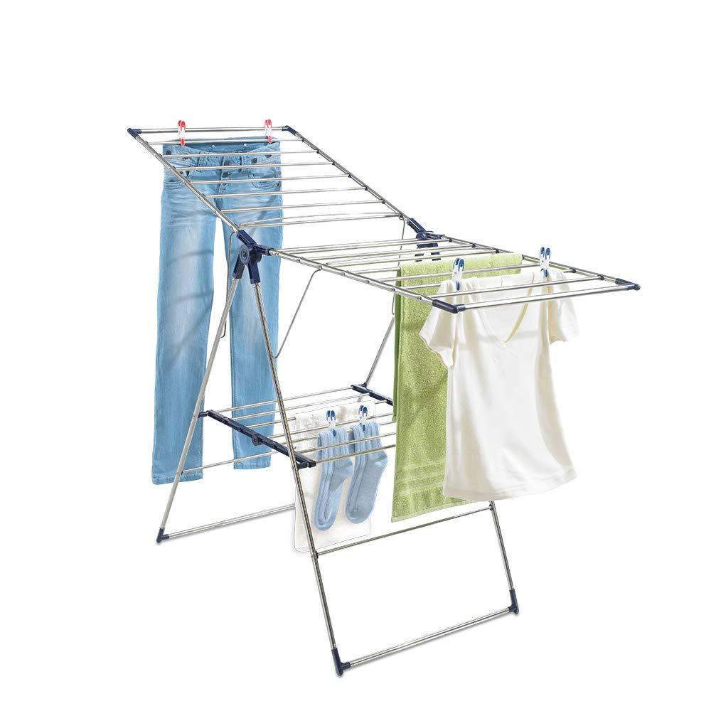 Leifheit Roma 150 Tripod Clothes Drying Rack Silver/Blue