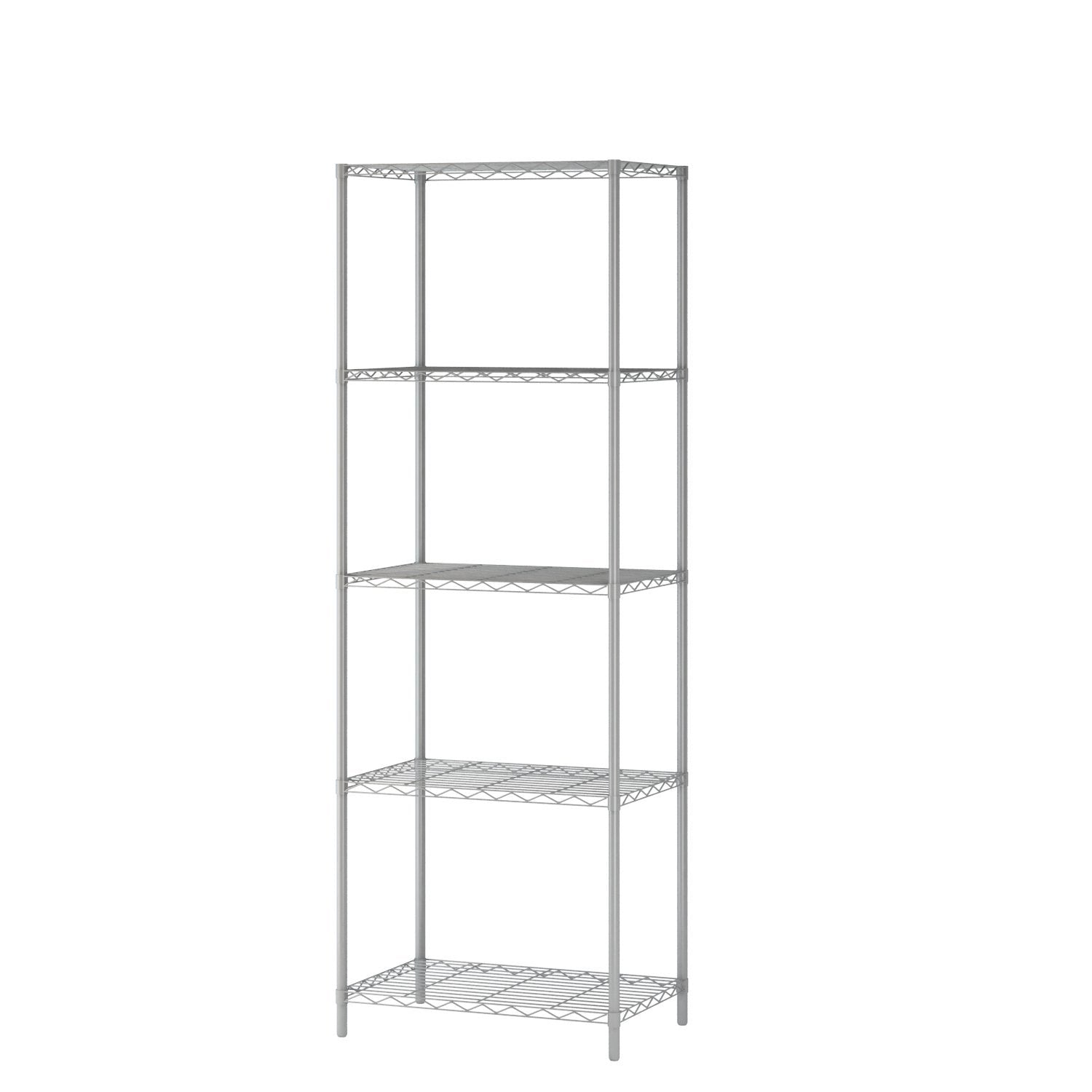 "Homebi 5-Tier Wire Shelving 5 Shelves Unit Metal Storage Rack Durable Organizer Perfect for Pantry Closet Kitchen Laundry Organization in Grey,21""Wx14""Dx61""H"