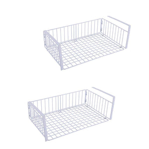 YOMYM Chrome Storage Drawer Rack Stackable Under Sink Cabinet Sliding Basket (2 Pack)