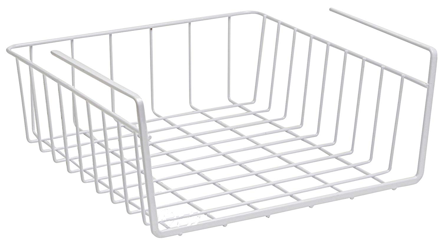 Under Shelf Basket Wire Rack - Easily Slides Under Shelves for Extra Cabinet Storage. Under shelf Baskets Allow You to Expand Pantry Space Without Adding Cabinets and Shelves. (Grayish White)