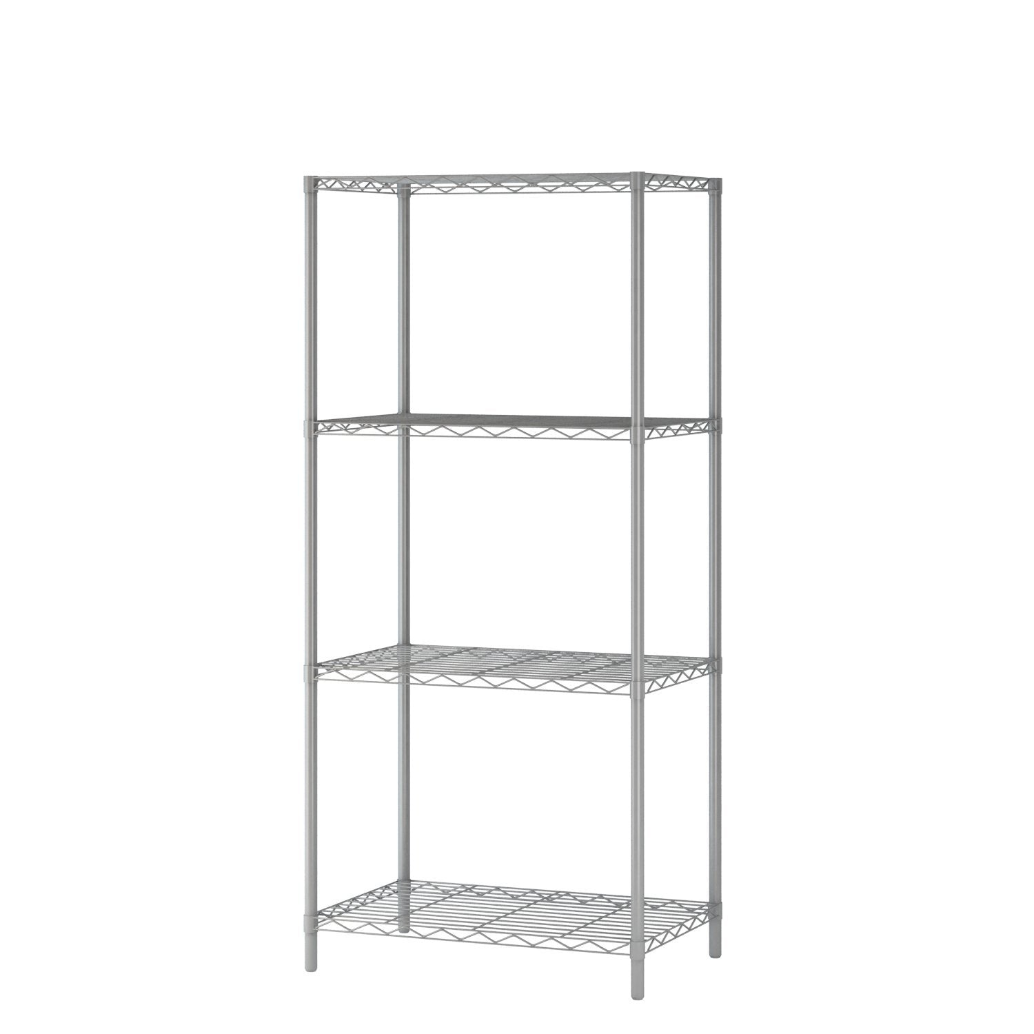 "Homebi 4-Tier Wire Shelving 4 Shelves Unit Metal Storage Rack Durable Organizer Perfect for Pantry Closet Kitchen Laundry Organization in Grey,21""Wx14""Dx46.5""H"