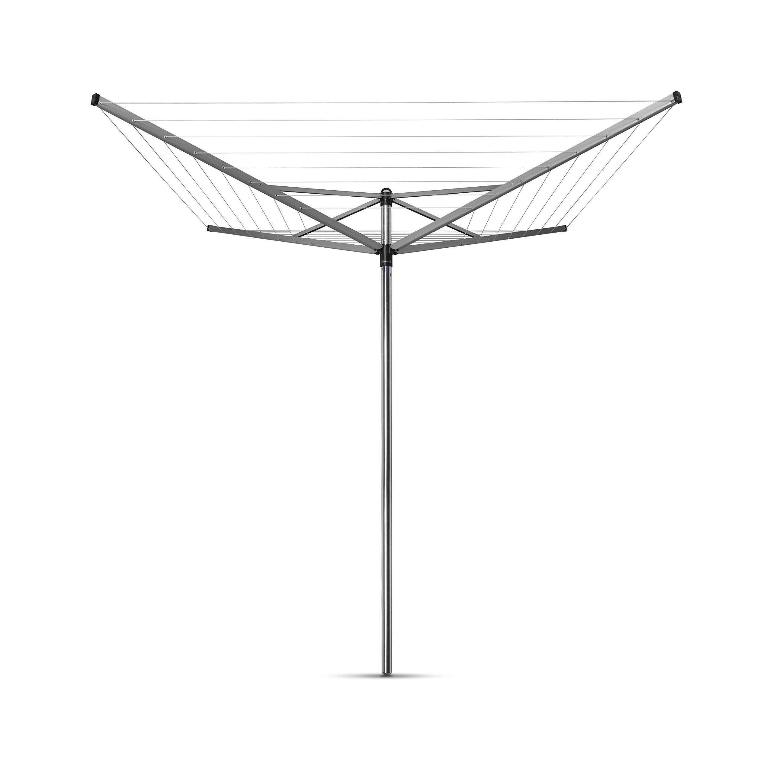 Brabantia Topspinner Rotary Dryer Clothesline with Metal Soil Spear, 197 Feet/ 60 M
