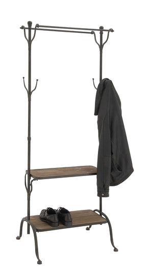 Deco 79 Metal Wood Clothes Rack, 69 by 25-Inch