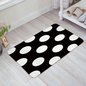 "SIMIGREE Simple Black and White Polka Dot Door Mats Kitchen Floor Bath Entrance Rug Mat Absorbent Indoor Bathroom Decor Doormats Rubber Non Slip 32"" x 20"""