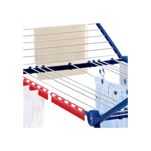 Leifheit Varioline Large Winged Clothes Drying Rack with Adjustable Lines, Blue and White