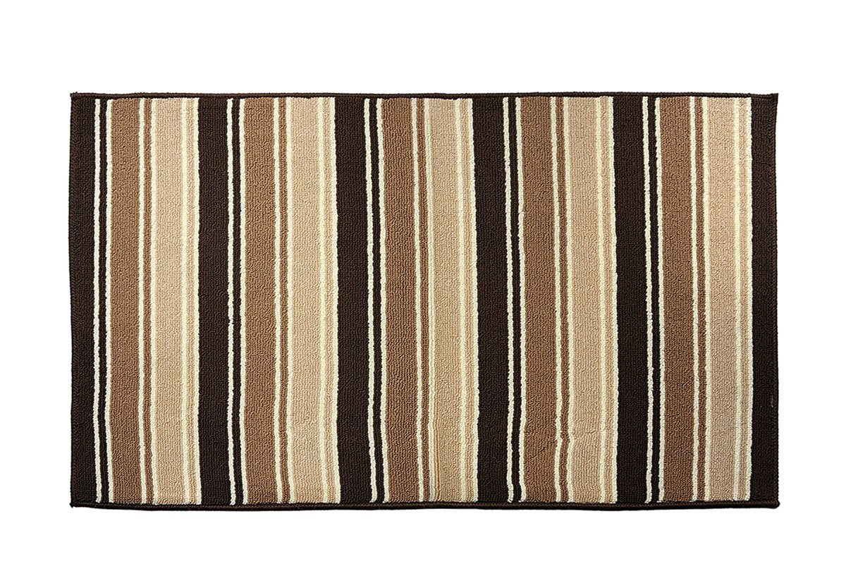 "Y&K Decor Doormat Non-Slip Backing Area Rugs Entrance Door Mat (27"" x 45"", Brown-B)"
