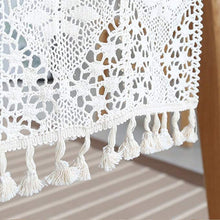 Elegant Tassels Placemat Lace Table Runner Retro Macrame Cotton Table Runners Beige Placemat For Wedding Reception Decoration Boho Party Decoration