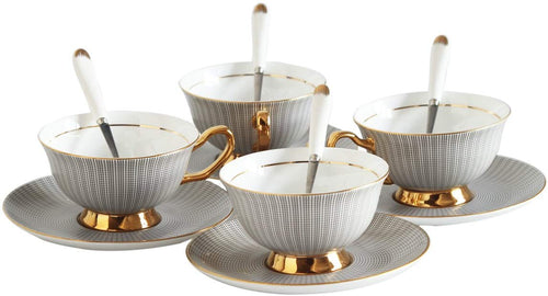 Marked Teacup Set of 4 - commoditeas