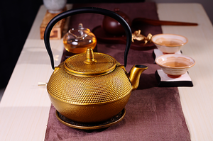 CommodiTeas Gold Cast Iron Tea Kettle