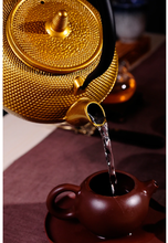 Load image into Gallery viewer, CommodiTeas Gold Cast Iron Tea Kettle