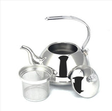 Load image into Gallery viewer, CommodiTeas Stainless steel Teapot with Filter - commoditeas