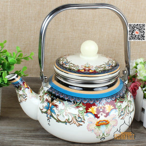 Raena Hand painted Bronze Brass Teapot - commoditeas