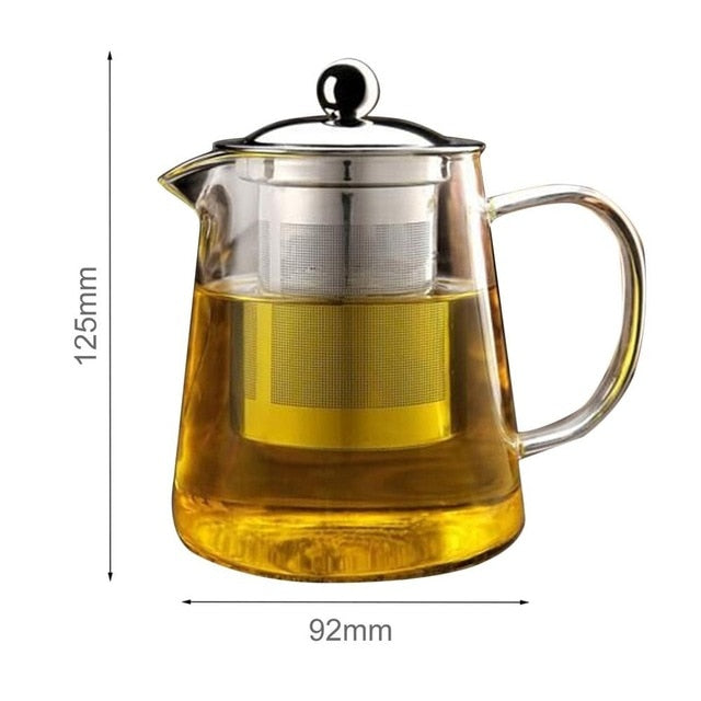 The Loft Glass Teapot With Infuser - commoditeas