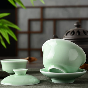 Dynasty Celadon Teacup - commoditeas