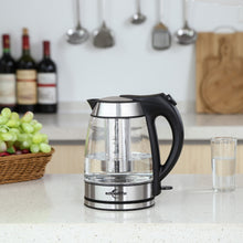 Load image into Gallery viewer, Loft 1.7L Electric Glass Kettle with Tea Infuser - commoditeas