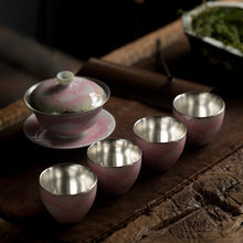 Load image into Gallery viewer, Migoto Silver Plated Ceramic Tea Set - commoditeas