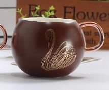 Load image into Gallery viewer, Lavette Swan Ceramic Mug - commoditeas