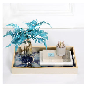 Water Mark Blue Agate Serving Tray - commoditeas