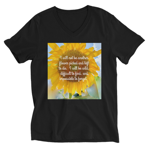 Wild Beauty Unisex Short Sleeve V-Neck T-Shirt