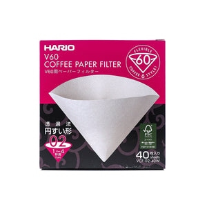 Hario v60 filter papers box of 40