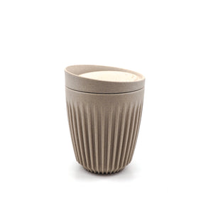 Sustainable coffee cup modern natural monochrome colour Huskee