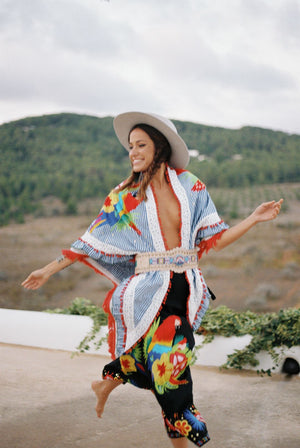 Shawl Wakamayo Vichy - World Family Ibiza