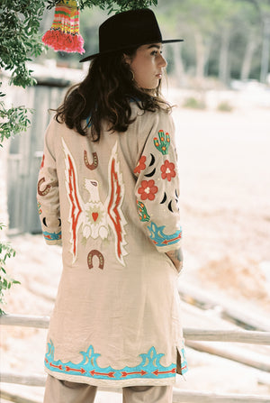 Wild West Jacket Beige - World Family Ibiza