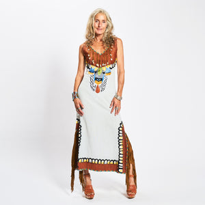 Vestido  Amazonia Light Gray - World Family Ibiza