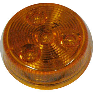 "LED 2"" AMBER ROUND MARKER Single Diode"