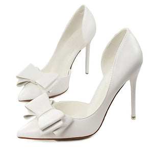 Delicate Bowknot Hollow Pointed Stiletto Heel Shoes