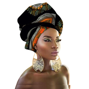 African Head Wrap African Traditional Cotton Headscarf