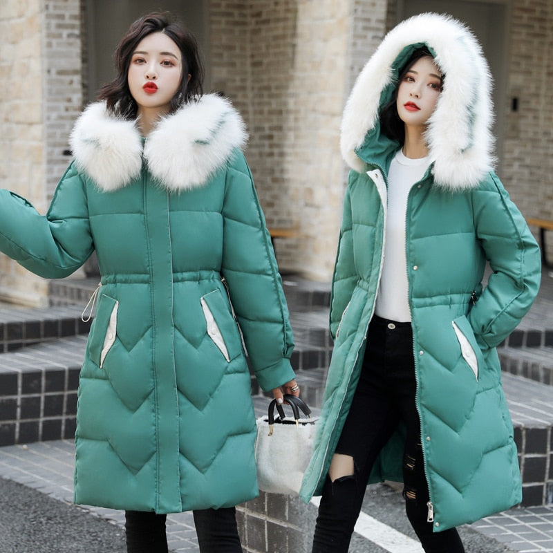 Hooded Down Parka Fashion Coat