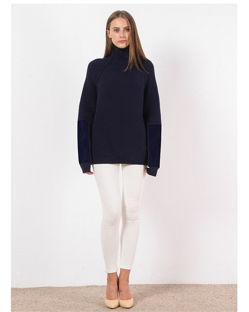 Turtleneck Pullover Cashmere Women Sweater