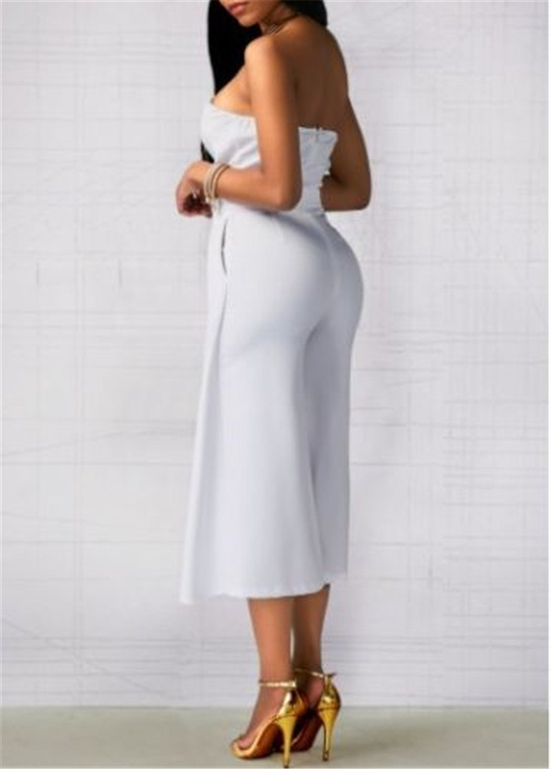 Off Shoulder Backless Strapless Sexy Bodycon Jumpsuit