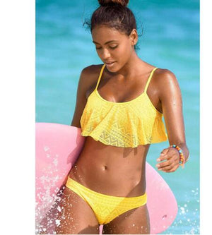 Push Up Bandage Cut Holes Brazilian Bikini Set Swimwear