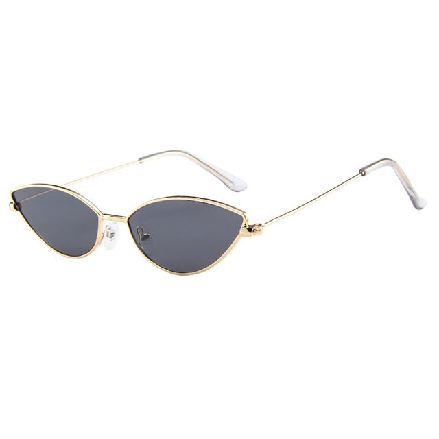 Cat Eye Small Frame Oval Retro Vintage Night Driving Sunglasses